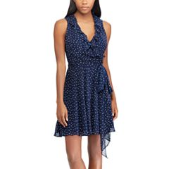 Women's Chaps Dot Ruffled Fit & Flare Dress