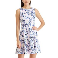 Women's Chaps Floral Jacquard Fit & Flare Dress