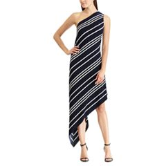 Women's Chaps Striped Asymmetrical Dress