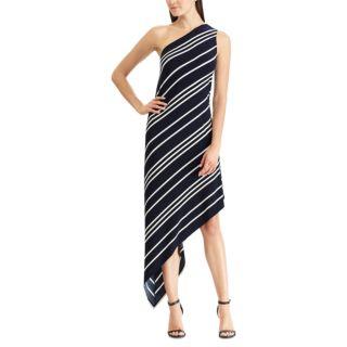 Women's Chaps Striped Asymmetrical Dress
