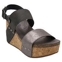 sugar Jeffrey Women's Platform Wedge Sandals
