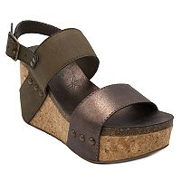 sugar Jeffrey Women's Platform Wedge Sandals