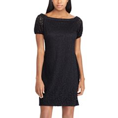 Women's Chaps Lace Off-the-Shoulder Shift Dress