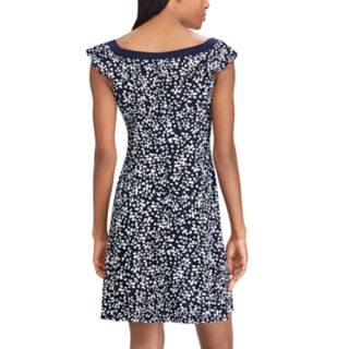 Women's Chaps Print Ruffle Fit & Flare Dress