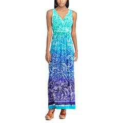 Women's Chaps Paisley Surplice Maxi Dress