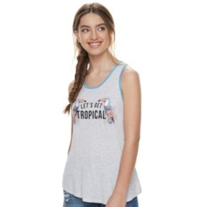 """Juniors' About A Girl """"Let's Get Tropical"""" Racerback Tank"""