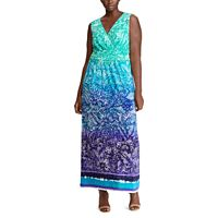 Plus Size Chaps Paisley Surplice Maxi Dress