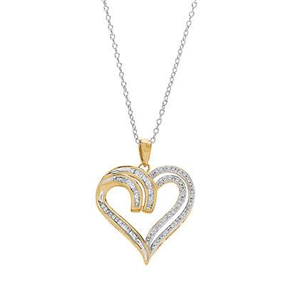 Two Hearts Forever 1 1/4 Carat T.W. Diamond Heart Pendant Necklace