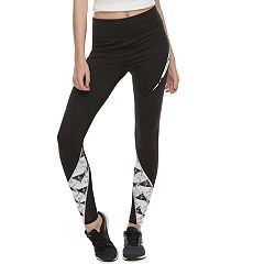 Juniors' SO® Tie-Dye Colorblock Mesh Spliced Leggings
