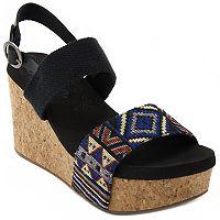 sugar Jinxy Women's Platform Wedge Sandals