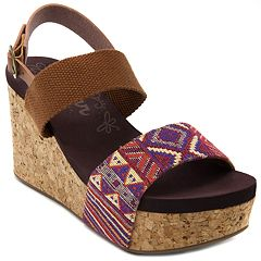 sugar Jinxy Women's Platform Wedge Sandals