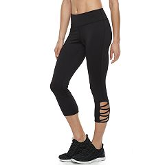 Women's Tek Gear® Lattice Hem Capri Leggings