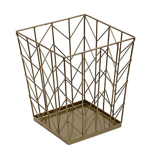 Honey-Can-Do Coastal Collection Chevron Trash Can