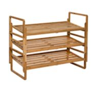 Honey-Can-Do 3-Tier Nesting Bamboo Shoe Rack