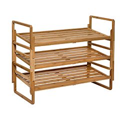 Honey-Can-Do 3-Tier Nesting Bamboo Shoe Rack
