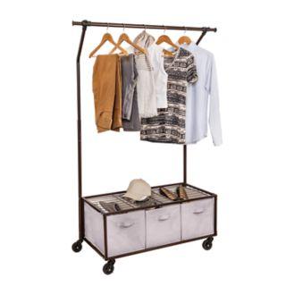 Honey-Can-Do Garment Rack & Bins
