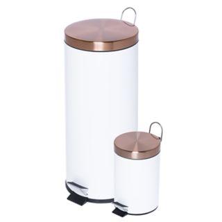 Honey-Can-Do Round 30-Liter & 3-Liter Soft-Close Trash Can Set