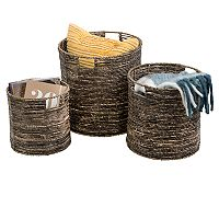 Honey-Can-Do Coastal Collection 3 pc Nesting Storage Bin Set