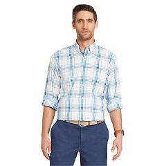 Big & Tall IZOD Classic-Fit Essential Plaid Woven Button-Down Shirt