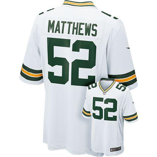 buy online 46143 ef1ca Men's Nike Green Bay Packers Clay Matthews Game NFL ...