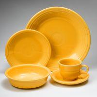 Fiesta 20-Piece Dinnerware Set (Daffodil Yellow)