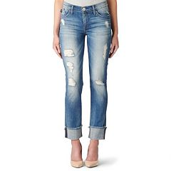 Women's Rock & Republic® Ripped Midrise Straight-Leg Jeans