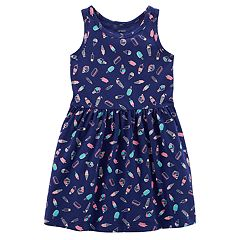 Toddler Girl Carter's Print Shirred Dress