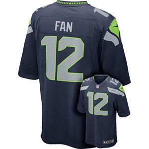 buy popular 90834 802fb Men's Nike Seattle Seahawks Fan Game NFL Replica Jersey