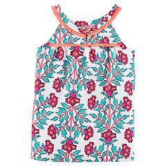 Toddler Girl Carter's Print Fringe Tank Top