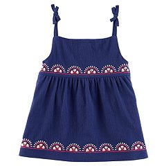 Toddler Girl Carter's Embroidered Tank Top