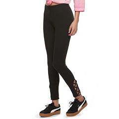 Juniors' SO® Lace-Up Leggings