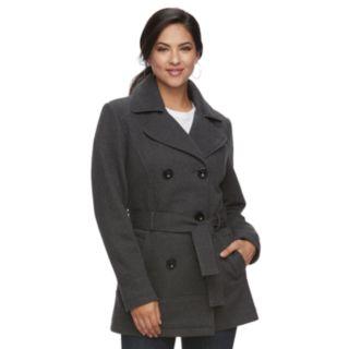 Women's d.e.t.a.i.l.s Hooded Double-Breasted Fleece Jacket