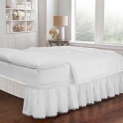 EasyFit Pom Pom Fringe Bedskirt