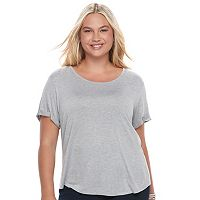 Juniors' Plus Size SO® Open Back Tee
