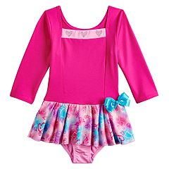 Girls 4-14 JoJo Siwa Gradient Hearts Square Neck Skirtall Dance Leotard by Danskin