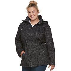 Plus Size d.e.t.a.i.l.s Hooded Fleece Anorak Jacket