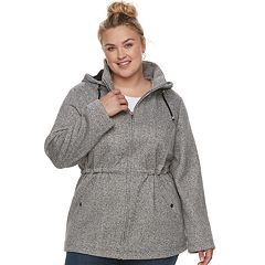Plus Size d.e.t.a.i.l.s Hooded Fleece Anorak Jacket