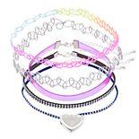 Girls 5-pack Choker & Locket Necklace Set