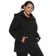 Plus Size d.e.t.a.i.l.s Hooded Fleece Midweight Jacket