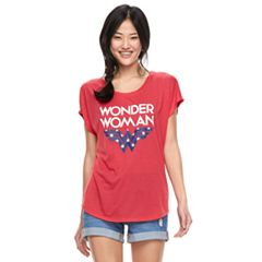 Juniors' DC Comics Wonder Woman Americana Tee