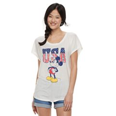 Juniors' Disney's Mickey Mouse American Classic Tee