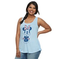 Juniors' Plus Size Disney's Minnie Mouse Americana Tank Top