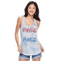 Juniors' Coca Cola Americana Tie-Dye Tank Top