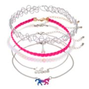 "Girls 4-16 Elli by Capelli ""Love"" & Horse Choker Necklace Set"