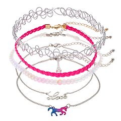 Girls 4-16 Elli by Capelli 'Love' & Horse Choker Necklace Set