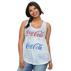 Juniors' Plus Size Coca Cola Americana Tie-Dye Tank Top