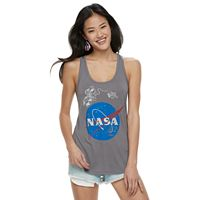 Juniors' NASA Red, White & Blue Skies Tank Top