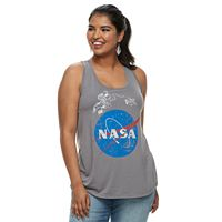 Juniors' Plus Size NASA Red, White & Blue Skies Tank Top