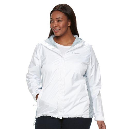 Plus Size Columbia Grey Skies Waterproof Jacket