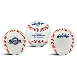 Milwaukee Brewers Team Logo Replica Baseball